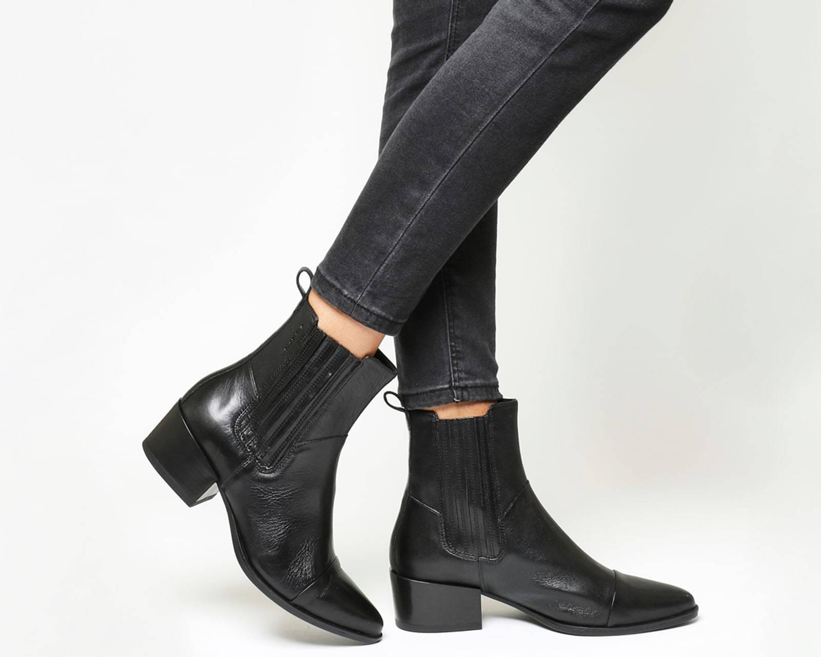 Bottes Vagabond Marja Chelsea Bottes Noir Noir Noir Bottes en cuir 5c1e60