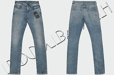SAINT LAURENT 690$ Authentic New Low Waist Skinny Jeans In Medium Blue 80s Denim