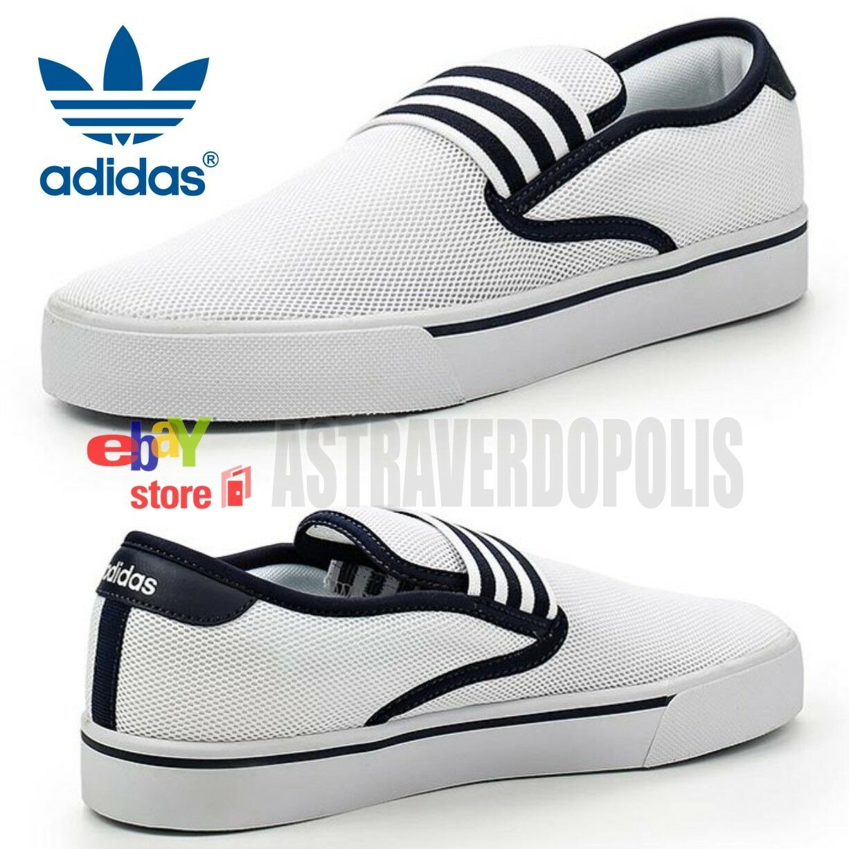 ADIDAS Para Hombre Zapatos Slipon Blanco Mar Sandalias NEO PARK Blanco Slipon ede6f2