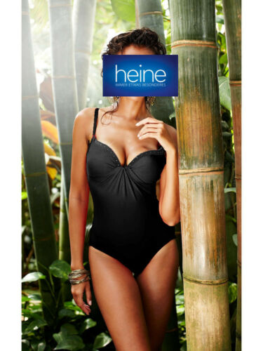 NERO Nuovo!! COPPA C Kp 89,90 € SALE/%/%/% Heine Costume da Bagno