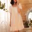 Retro-Womens-Pajama-Square-Neck-Short-Dress-Cotton-Lolita-Sleepwear-Nightgown thumbnail 6