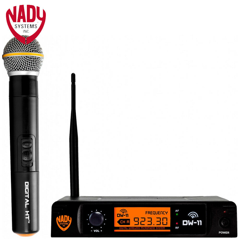 NEW Nady DW-11 HT 24 Bit Digital Wireless Handheld Microphone System with Mic