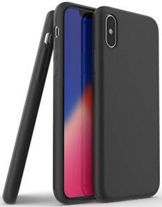 Schutzhuelle-Silikon-Fuer-iPhone-6-7-8-Plus-XR-X-XS-XS-MAX-Slim-TPU-Case-Schwarz