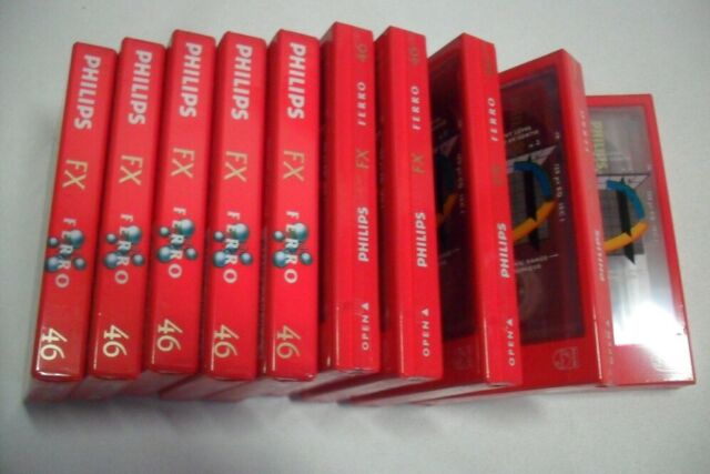 Lot de 10 Cassettes Audio Vierges Philips FX Ferro 46 Neuves