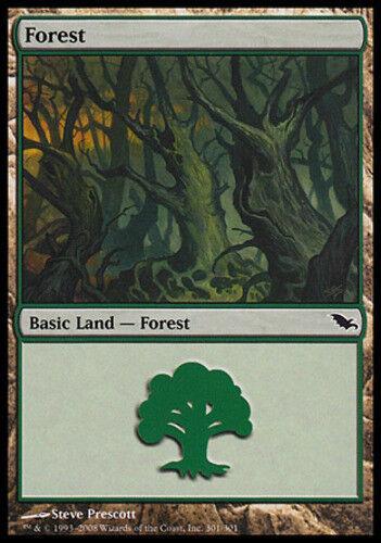 4x Forest 301 NM-Mint Shadowmoor Land C mtg SPARROW MAGIC