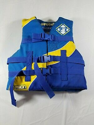 Body Glove Youth Life Jacket 50-90# Blue and Yellow | eBay