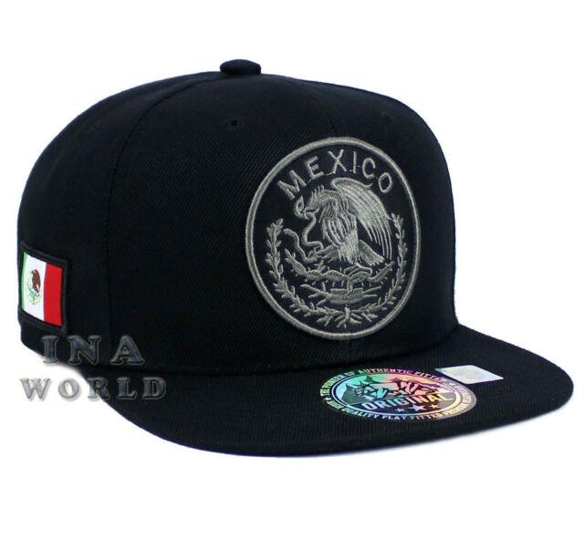 cdb7131ea31 MEXICAN hat Snapback MEXICO Federal Logo Embroidered Baseball cap- Black  Gray