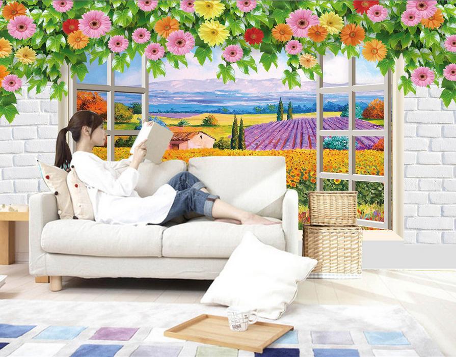 3D Hanada Bauernhof 744 Tapete Wandgemälde Tapete Tapeten Bild Familie DE Summer