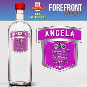 Personalised-Pink-Vodka-bottle-label-Perfect-Birthday-Wedding-Graduation-Gift