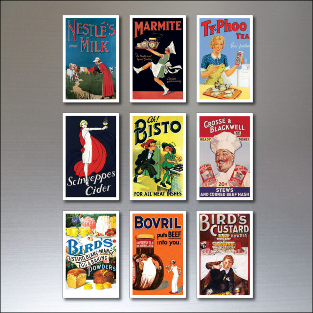 9 Vintage Retro Werbeplakat Kühlschrankmagneten Art Déco nr. 4
