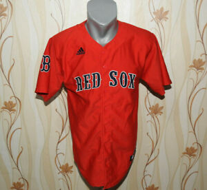new style 86f5b 75892 Details about Boston Red Sox Jersey Adidas MLB Shirt Size Boys XL Red  Baseball for Children