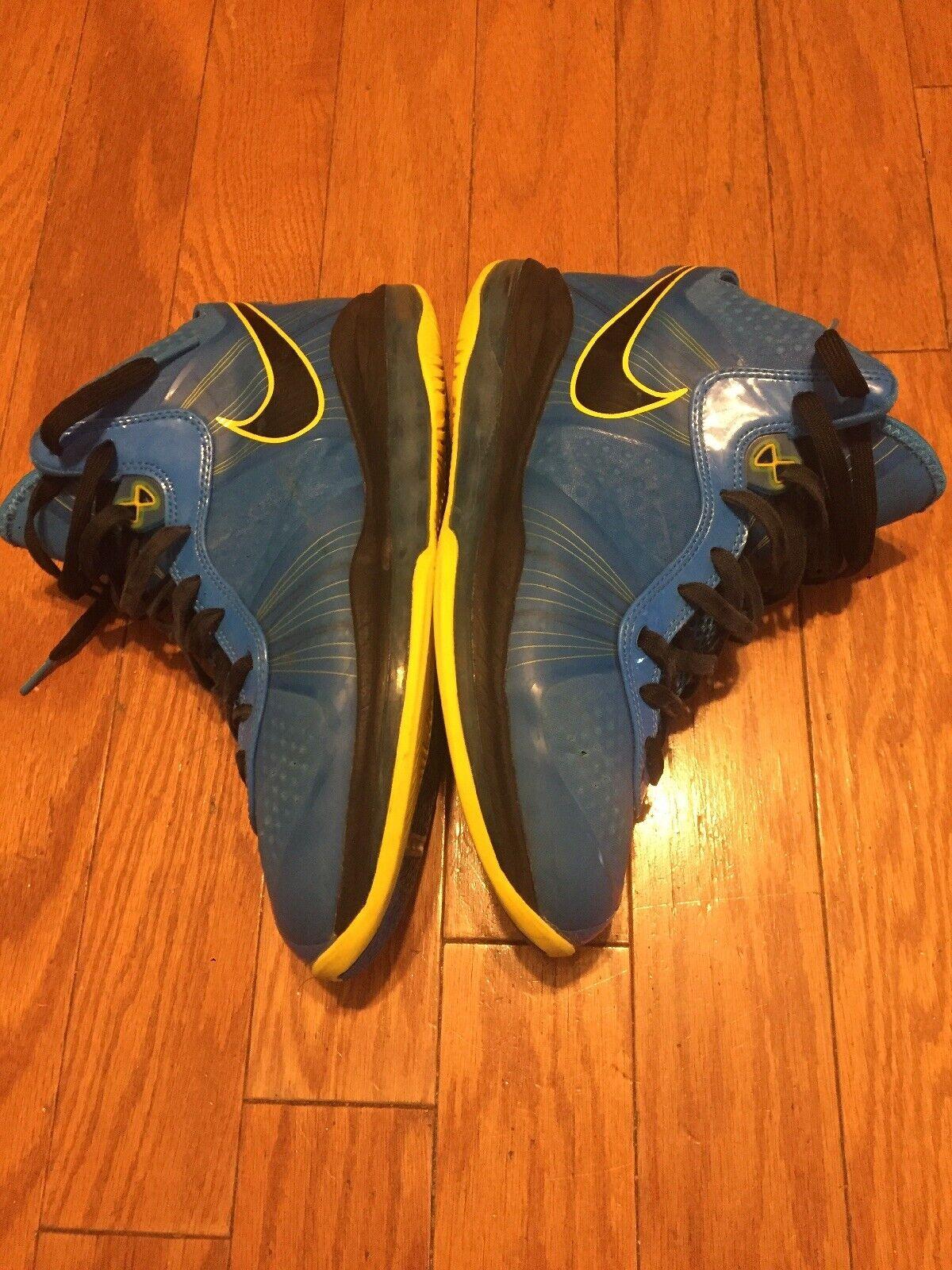 Nike Lebron VIII 8 V 2 Entourage Photo bluee Black Tour Yellow Sz 9.5 South Beach