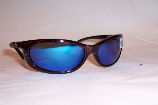 NEW COSTA DEL MAR SUNGLASSES FATHOM TORTOISE//BLUE MIRROR 400G AUTHENTIC $189