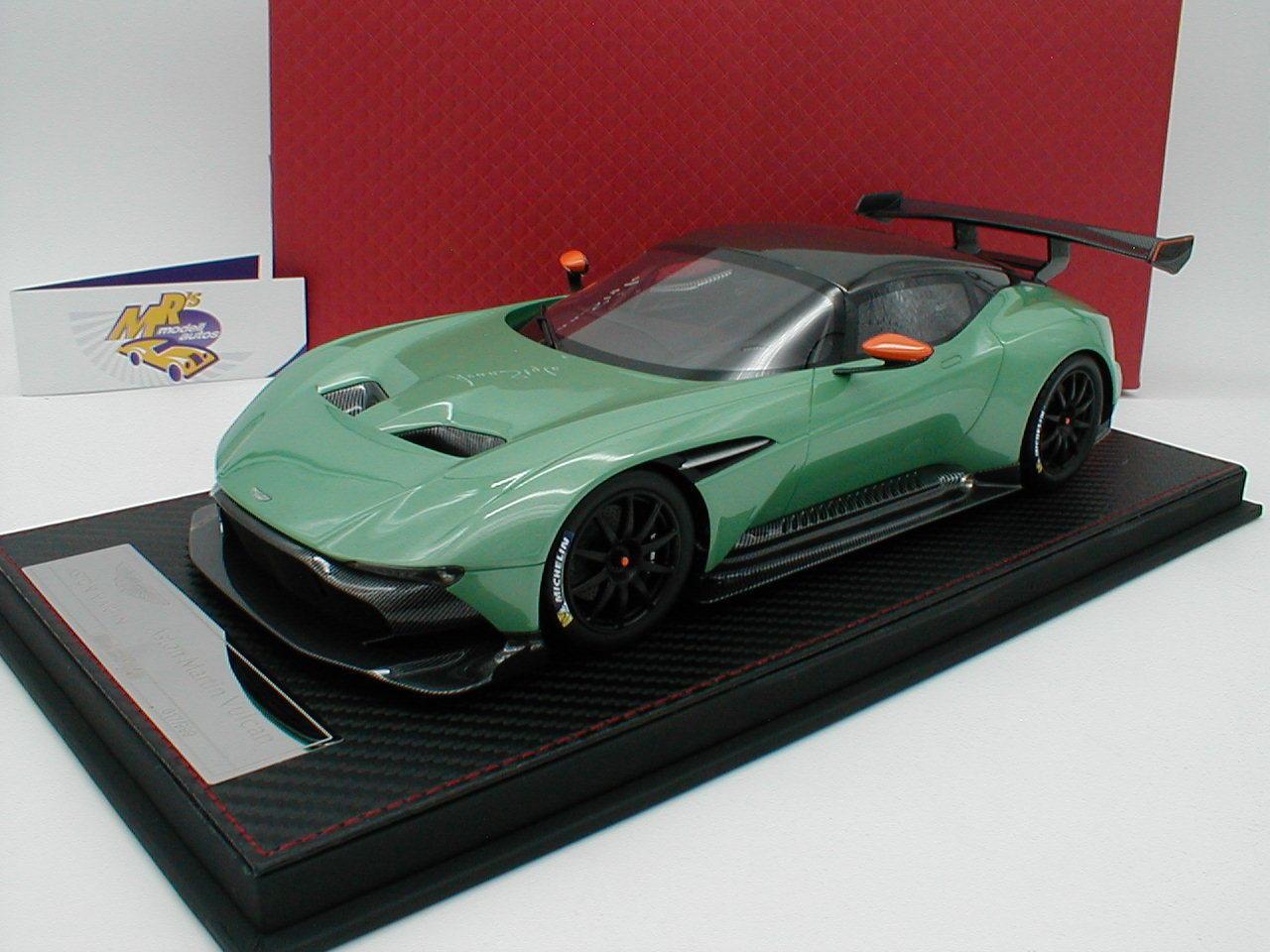 FrontiArt as014-85   Aston Martin Vulcan anno di costruzione 2015  Pearl verdemet.  1 18