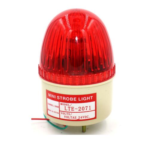 Mini Strobe light Flashing Industrial Signal Tower Warning Lamp Red DC 24V