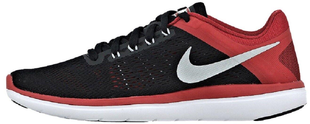 Men's Shoes Black / Red/White Nike Sneakers Men Black/Red/White Nike Flex 2016Rn