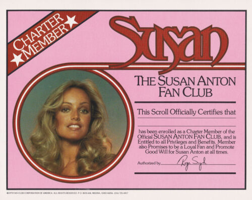 SUSAN ANTON POSTER//PORTFOLIO FAN CLUB OF AMERICA 13 PCS IN FOLDER   LC7 C