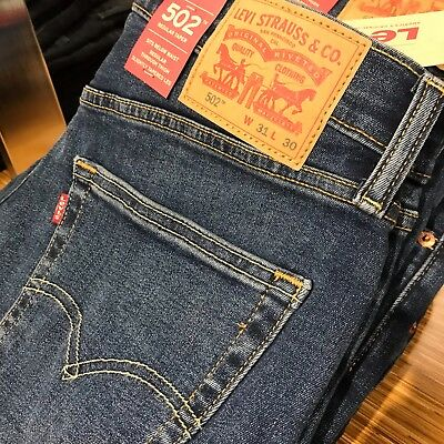 Authentic Original Genuine LEVI/'S 502 JEANS Men/'s Regular Taper Stretch 42-32