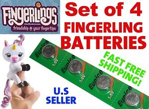 Fresh Replacement Batteries 4 For All Finger Lings Monkeys Unicorns Electronic