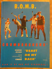 Beast on My Back, Crumbsuckers, B.O.M.B. , Full Page Promotional Ad