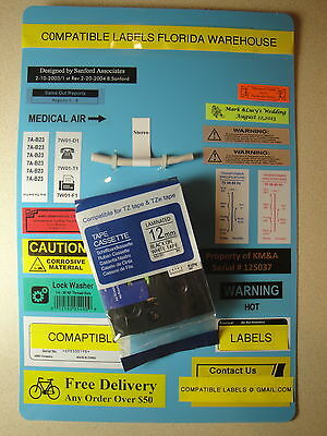 Label Tapes & Cartridges Purposeful 5 Nom Brother Tze-231 Label Black Print White Tape 1/2 26' 12mm 8m Soft And Antislippery Label Making