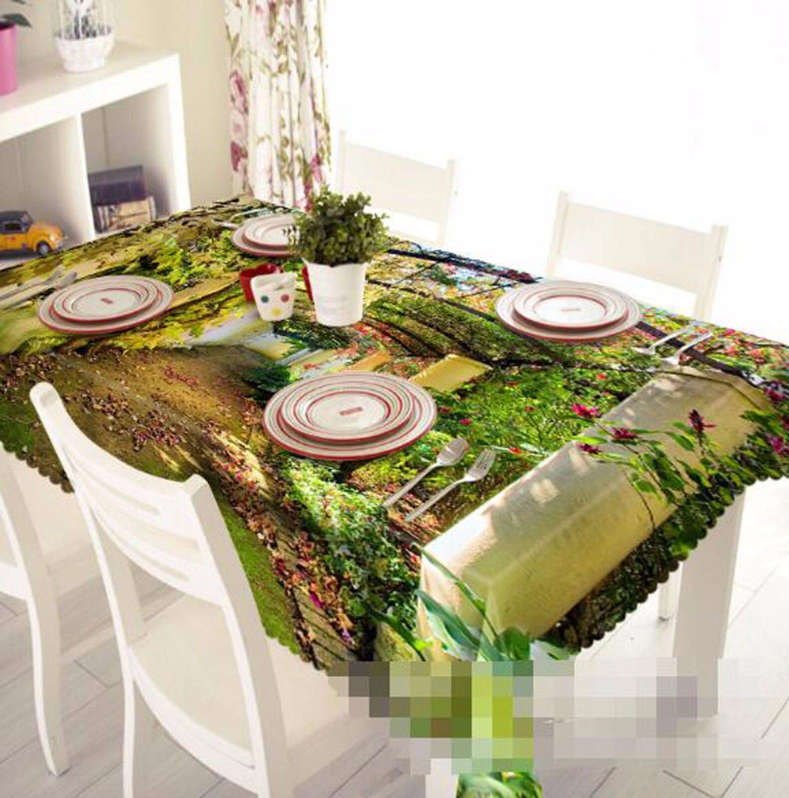 3D Arch pelouse 5 Nappe Table Cover Cloth fête d'anniversaire AJ papier peint Royaume-Uni Citron