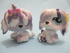Littlest Pet Shop Lot of 2 #465 #466 Sheepdog Puppy Dogs 100% Authentic