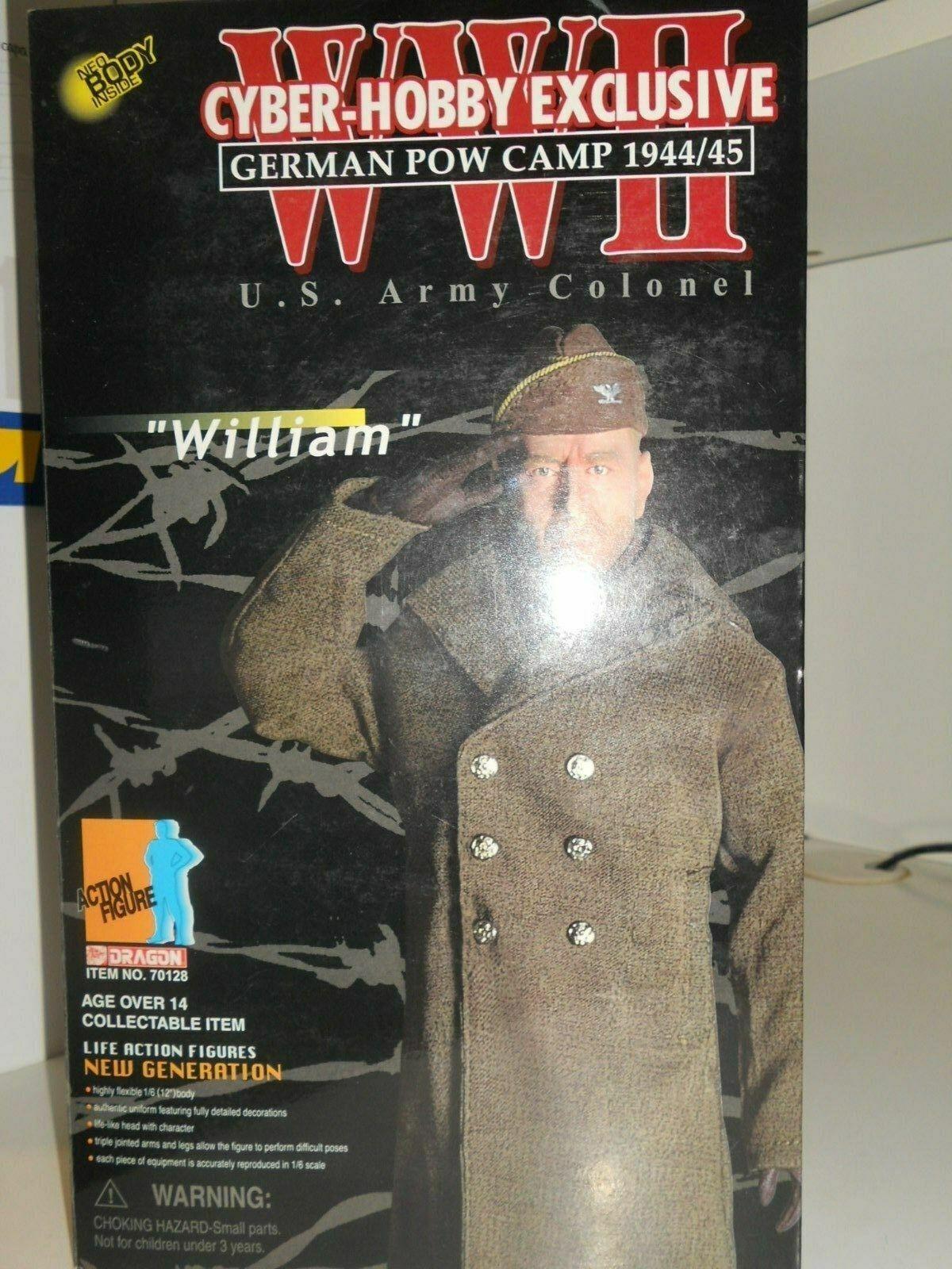 DRAGON ACTION FIGURE WILLIAM U.S. ARMY COLONEL GERMAN POW CAMP 1944 45 753521