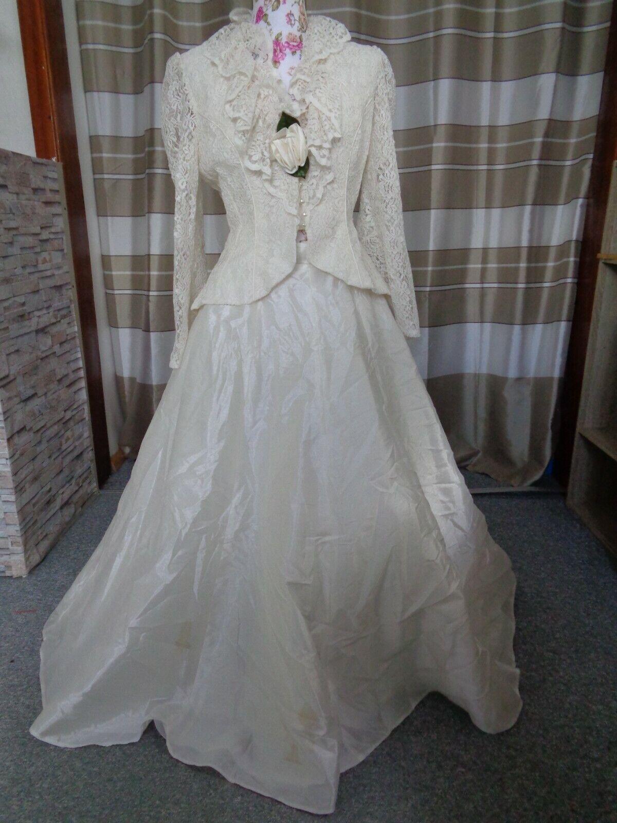 (61)Edles Damen Braut Standesamt Abend Kleid GR: 38