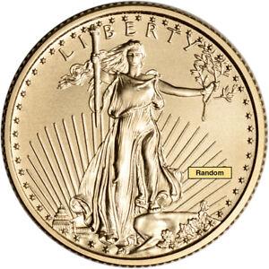 American Gold Eagle $5 Random Date BU 1//10 oz