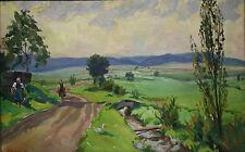 Scholz Paul 1901-56  bei  Wollmar Marburg Marburger Bäuerinnen  Ölgemälde 1944