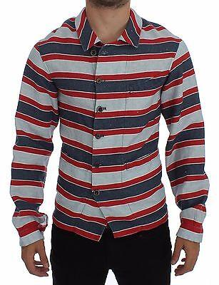 NWT $440 DOLCE /& GABBANA Beige Checkered SICILIA Fit Logo Casual Shirt s 38 S
