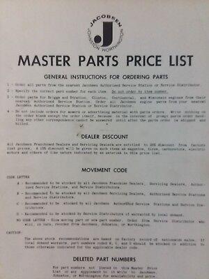 Jacobsen Master Price List 1956 Lawn Mower Sulky Rider Garden Tractor  Manual   eBay