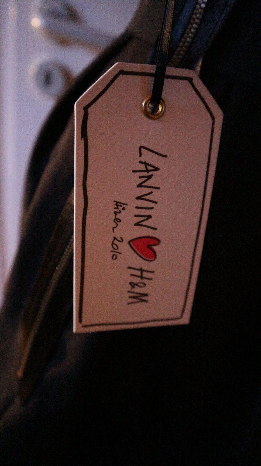 LANVIN LANVIN LANVIN  for H&M Luxus- Party Kleid  One Shoulder Dress Tulip Schwarz Gr.38 Neu 8834e9