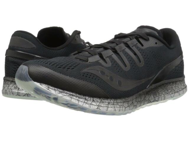 pretty nice cb46c 369e9 Saucony Men s Freedom ISO US 14 M Black Mesh Running Sneakers Shoes  160.00