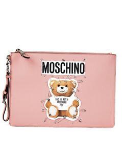 8f40e9d14c La imagen se está cargando Borsa-Pochette-Moschino-Bag-SAFETY-PIN-TEDDY -ITALY-