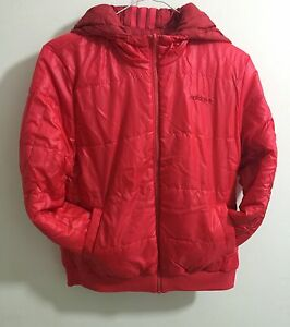 Adidas Womens SC Reversible Padded Jacket Neo Hooded Jacket