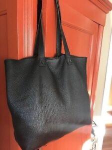 Purse Black Reconditioned California Excellent Leather Shoulder Viva Bags qOTvXX