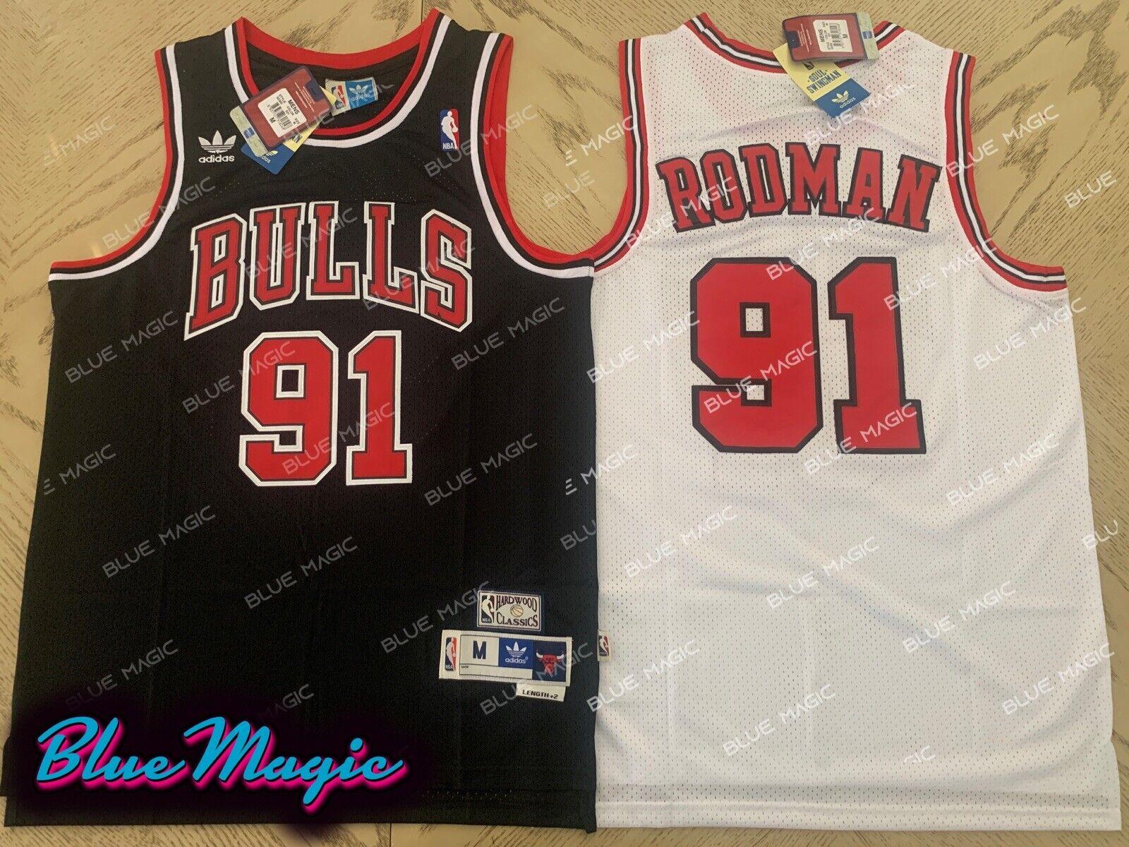 Chicago Bulls Dennis #91 Rodman Retro Swingman Basketball Jersey White New