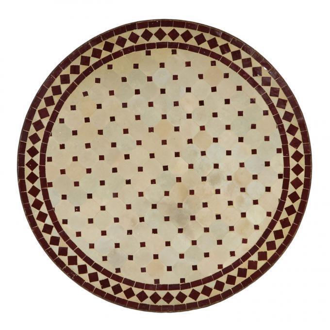Mosaiktisch Mosaiktisch Mosaiktisch Gartentisch Garten Möbel Orientalisch Balkontisch 80 cm Bordeaux bb7bfc