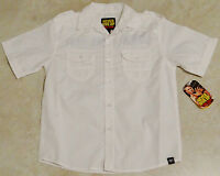 Boys White Buttoned Down John Cena Shirt/never Give Up