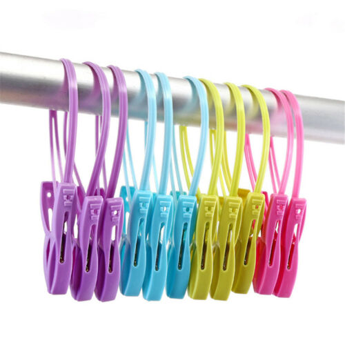 12pcs//set Windproof Clothes Clips Pegs Towel Socks Hanger Racks Clothes ZP