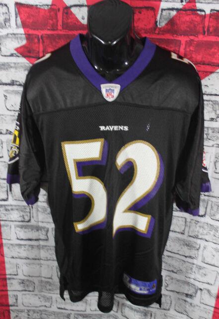 premium selection 97af6 61032 Reebok Baltimore Ravens Mens Jersey NFL Football Ray Lewis #52 Black Sz M