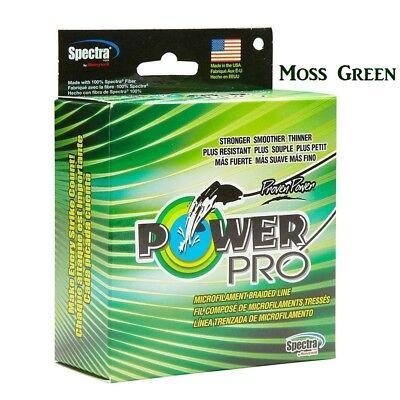 PowerPro Braid 8lb//100yds Moss Green Spectra Fiber Braided Fishing Line