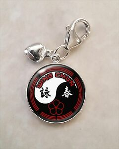 925 sterling silver charm wing chun kung fu martial arts