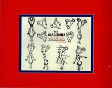 GLADSTONES / Flintstones WILMA FLINTSTONE MODEL SHEET PRINT PROFESSIONAL MATTED
