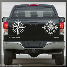 Compass Sticker, Decal, Land Rover, 4x4, Off Road, Navigation, Style, x 2