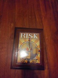 RISK-Vintage-Game-Collection-Wooden-Library-Book-Shelf-Wood-Box-Parker-Brothers