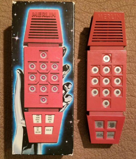 1978 Vintage Merlin Electronic Handheld Game in Box [Parker Brothers] (A 3200)