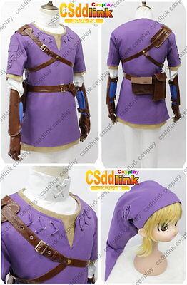 The legend of zelda twilight princess purple link cosplay costume